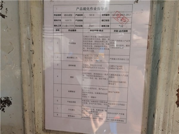 Operation Instruction for workers in machine
