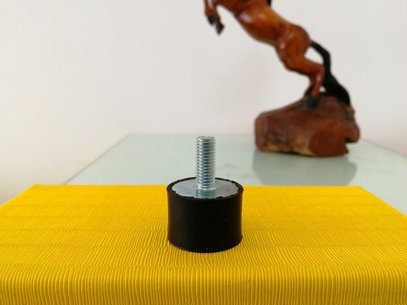 Zinc plated rubber buffer