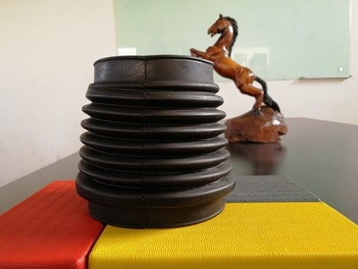 Soft and flexible corrugated rubber bellows