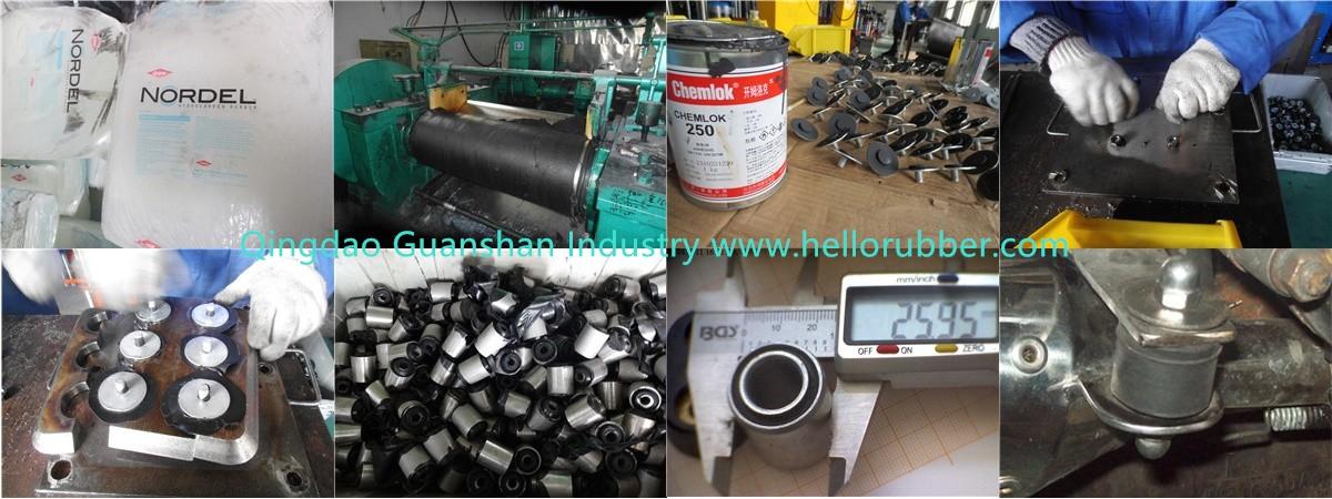 rubber-metal buffer production process